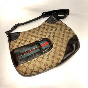 Iconic Gucci Signature shoulder bag purse